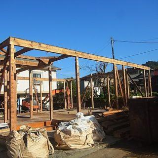 2階建てを平屋に減築