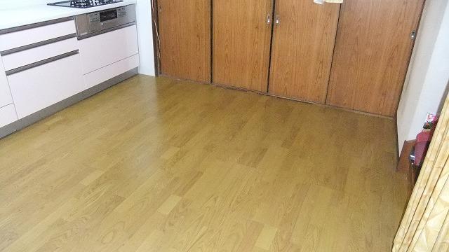 キッチン床の張替え