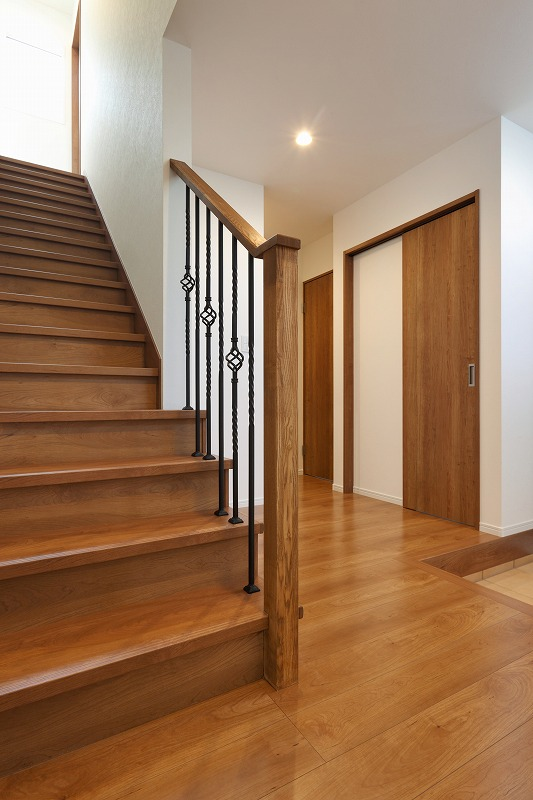 階段にアクセント