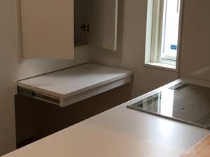 キッチンの収納スライド棚.JPG