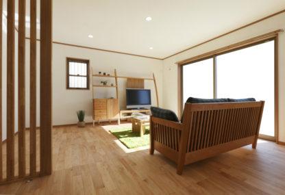 北欧テイストの家具がしっくりとなじむナチュラル感たっぷりの家