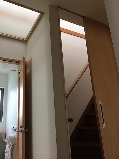 階段室を囲って