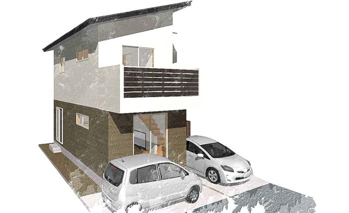 25坪の狭小地に建つコンパクトな住まい
