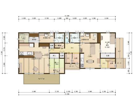 程よい距離間の完全分離2世帯住宅