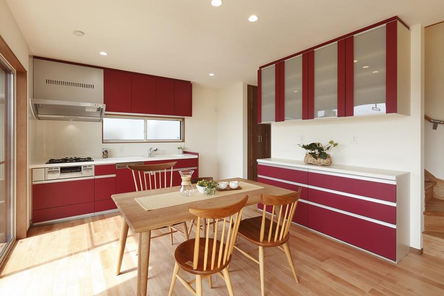 壁面式のキッチン
