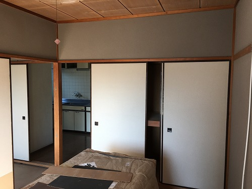 和室2部屋をリビングに