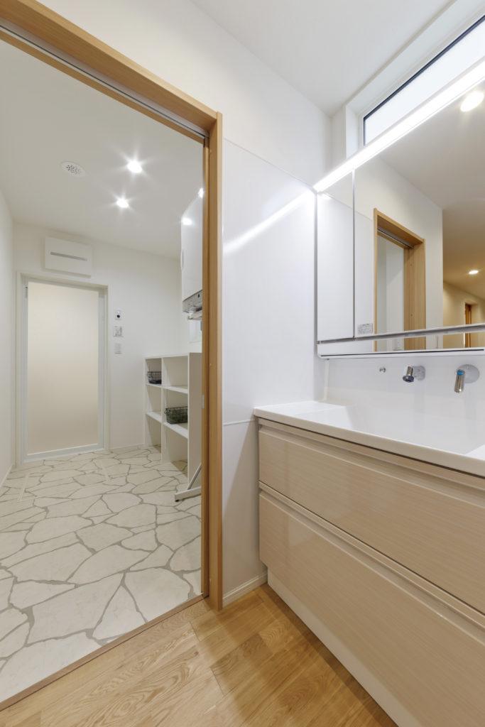 広い浴室・脱衣室