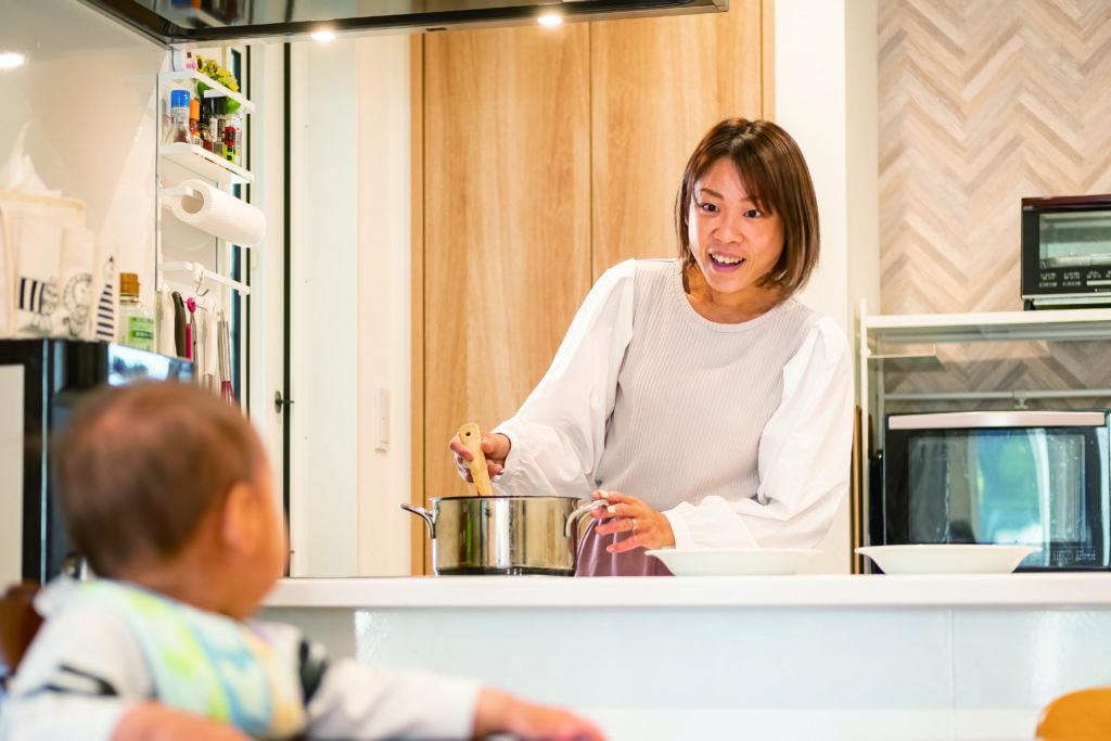 コミュニケーションが取れるオープンキッチン